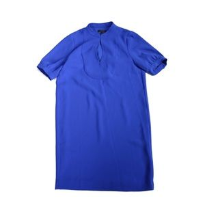 J CREW Crepe Shift Dress Sapphire Blue Size 0